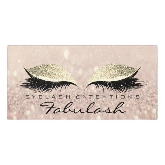 Glitter Beauty Salon Lashes Makeup Rose Gold Pink Door Sign