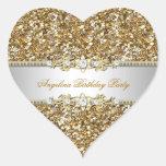 Glitter Birthday Party Gold Jewel Diamond Any Age