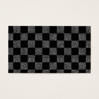Glitter black glitter checkered pattern