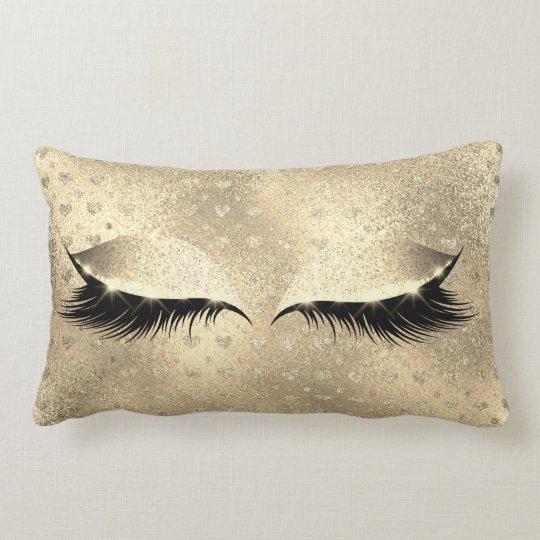 Glitter Black Makeup Eye Lashes Champaign Gold Lumbar