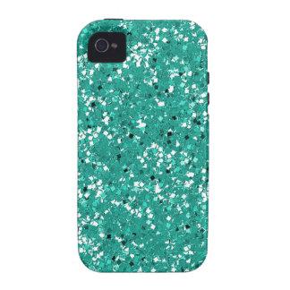 Glitter blue green aqua iPhone 4 cover