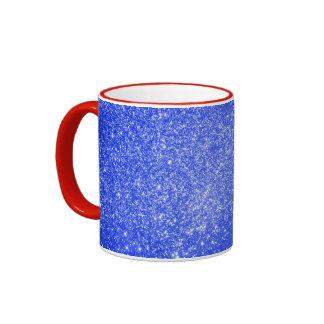 Glitter Blue Mugs