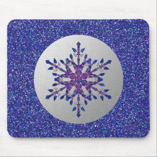 Glitter Blue Star Mouse Mat