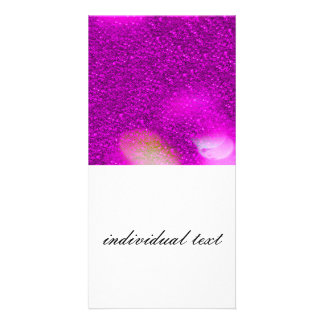 Glitter Bokeh, hot pink Photo Card Template