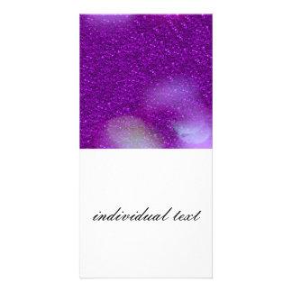 Glitter Bokeh, purple Picture Card