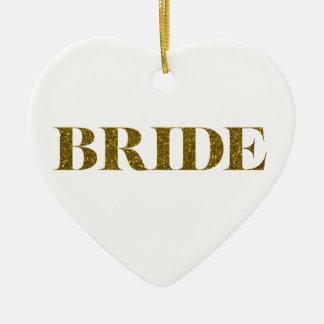 Glitter Bride Gold Christmas Tree Ornaments