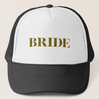 Glitter Bride Gold Trucker Hat