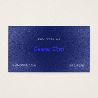 glitter burst (blue) business card