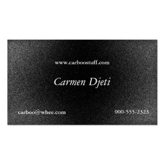 glitter burst (silver) pack of standard business cards