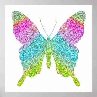 Glitter Butterfly Poster