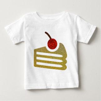 Glitter Cake Slice Baby T-Shirt