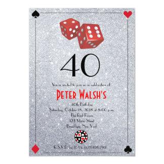Glitter Casino Las Vegas Birthday Invitation