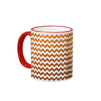 Glitter Chevron Orange Coffee Mug