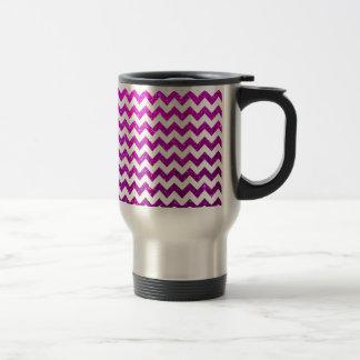 Glitter Chevron Pink Coffee Mugs