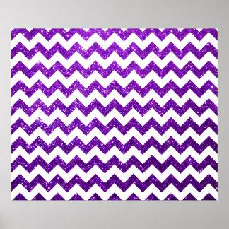 Glitter Chevron Purple Poster
