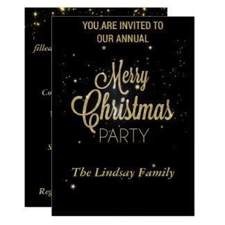 Glitter Christmas Celebration Party Invitation