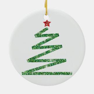 Glitter Christmas tree Christmas Ornament
