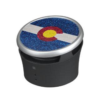 Glitter Colorado flag bumpster speaker