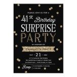 Glitter Confetti Surprise Party Invitation ANY AGE