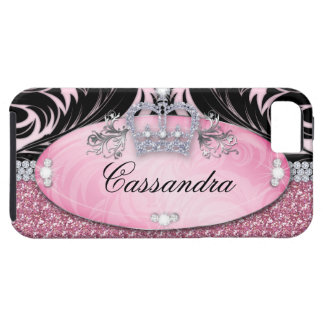 Glitter Crown iPhone Case Mate Tough Jewelry