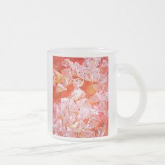 Glitter Crystals collection Frosted Glass Mug