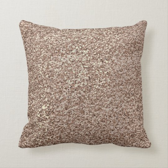 Glitter Crystals Rose Gold Makeup Sparkly Coffee Cushion