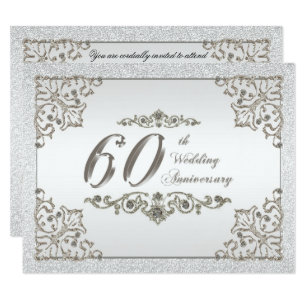 Diamond Wedding Anniversary Invitations Zazzle UK