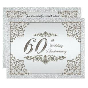 60th anniversary wedding invitations zazzle co uk