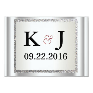 Glitter Elegant Wedding Invitation
