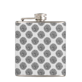 Glitter Faux Foil Confetti Dots Hip Flask