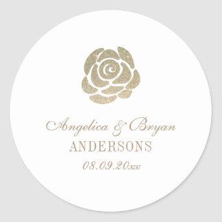 Glitter Flower Wedding Sticker