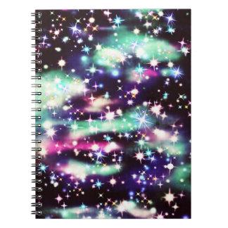 Glitter Galaxy Notebook