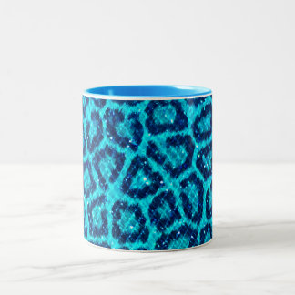 Glitter Gem Leopard Print Two-Tone Mug