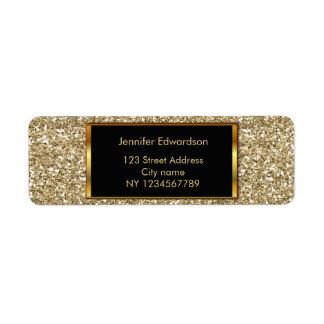 Glitter gold bling classy return address