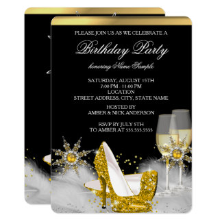 Glitter Gold High Heel Shoes Gold Champagne Black Card