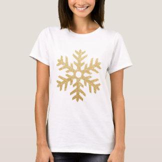Glitter Golden Christmas Snowflake personalize T-Shirt