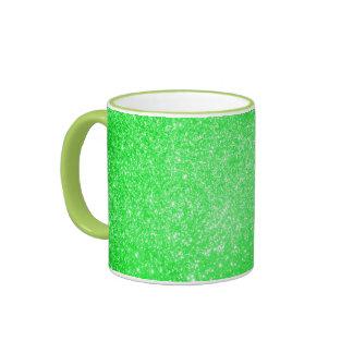 Glitter Green Ringer Mug