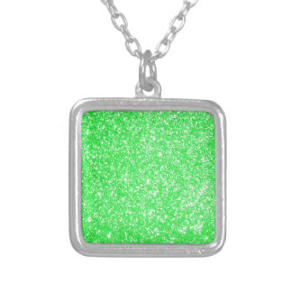 Glitter Green Custom Necklace