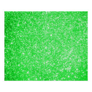 Glitter Green Posters