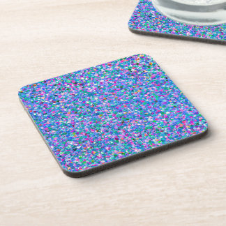Glitter Grit Modern Multicolor Painting Coaster