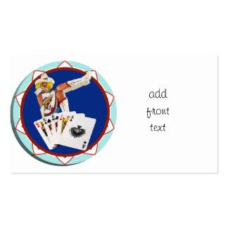 Glitter Gultch Sally Poker Chip Business Cards