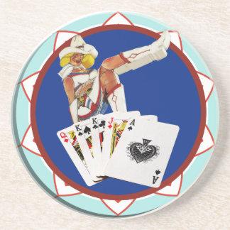 Glitter Gultch Sally Poker Chip Coaster