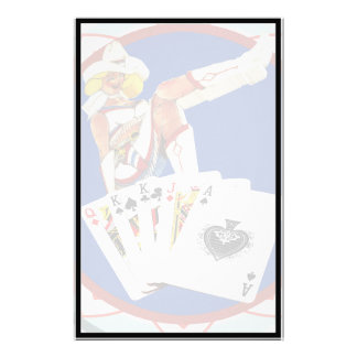 Glitter Gultch Sally Poker Chip Stationery Paper