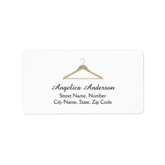 Glitter Hanger Logo Address Label