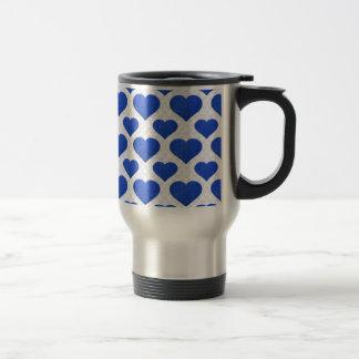 Glitter Heart Basic 1 Blue Coffee Mug