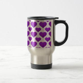 Glitter Heart Basic 1 Purple Coffee Mug