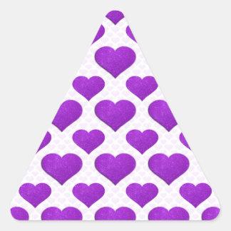 Glitter Heart Basic 1 Purple Stickers