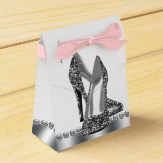 Glitter High Heel Shoe Birthday Party Favor Boxes