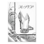Glitter High Heel Shoe RSVP 9 Cm X 13 Cm Invitation Card