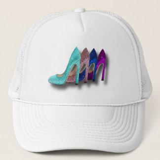 Glitter High Heel Shoes Fashion Shirts Trucker Hat